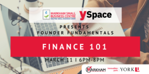 Founder Fundamentals - Finance 101 @ Webinar