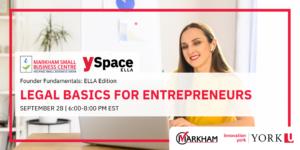 Founder Fundamentals -Legal Basics for Entrepreneurs @ Webinar